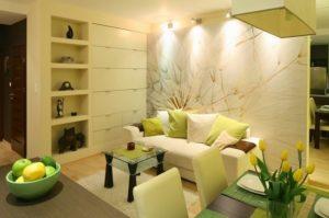 Cómo decorar un salón pequeño en un estudio